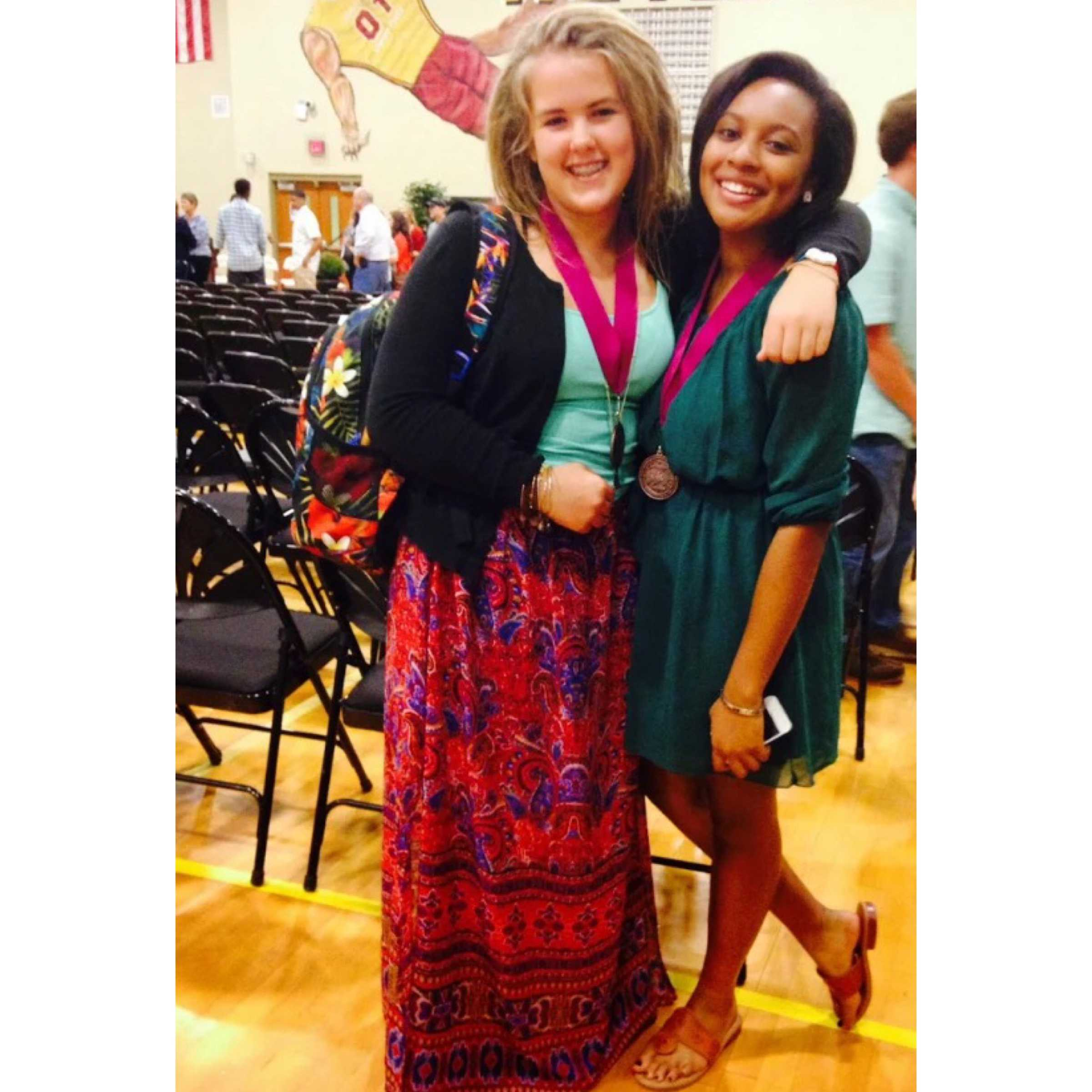 Juniors Jayla Ball and Abby Sellers at the 2014 Academic Award Ceremony
