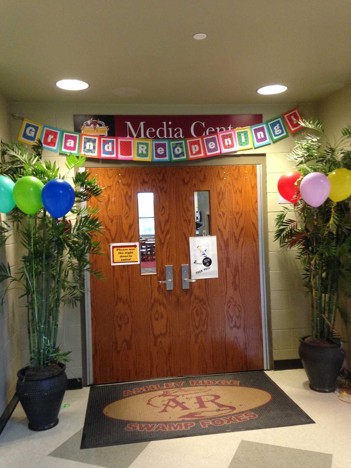 October 1, 2015 The grand reopening of ARHS media center.