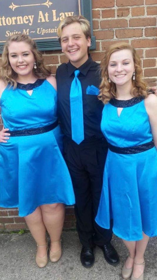 Noah Rostance, Ashley Underwood, and Mckenna Perkins at the Italian Festival on October 2