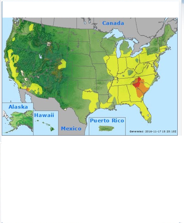 Map of the Severity of the Wildfire