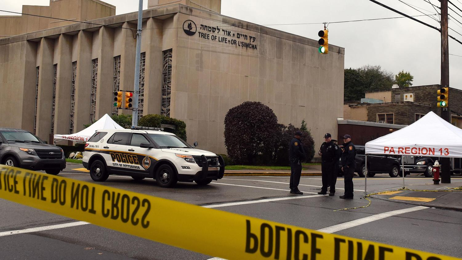 Tree of Life synagogue. Credit: https://www.usatoday.com/story/tech/nation-now/2018/10/29/gab-goes-offline-pittsburgh-synagogue-shooting/1804582002/