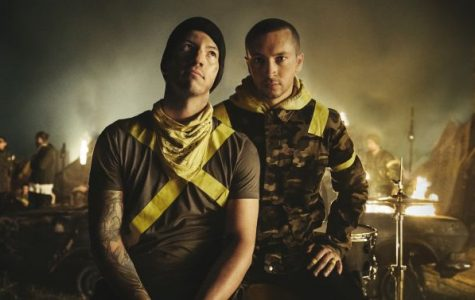Tyler Joseph and Josh Dun. Credit: https://musicfeeds.com.au/features/twenty-one-pilots-meaning-new-album-trench-blurryface-real-name/