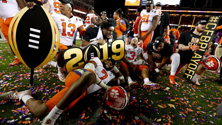 Clemson Players after their win