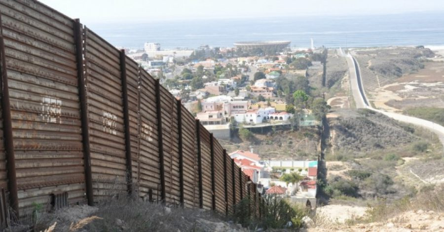 The Mexican border wall