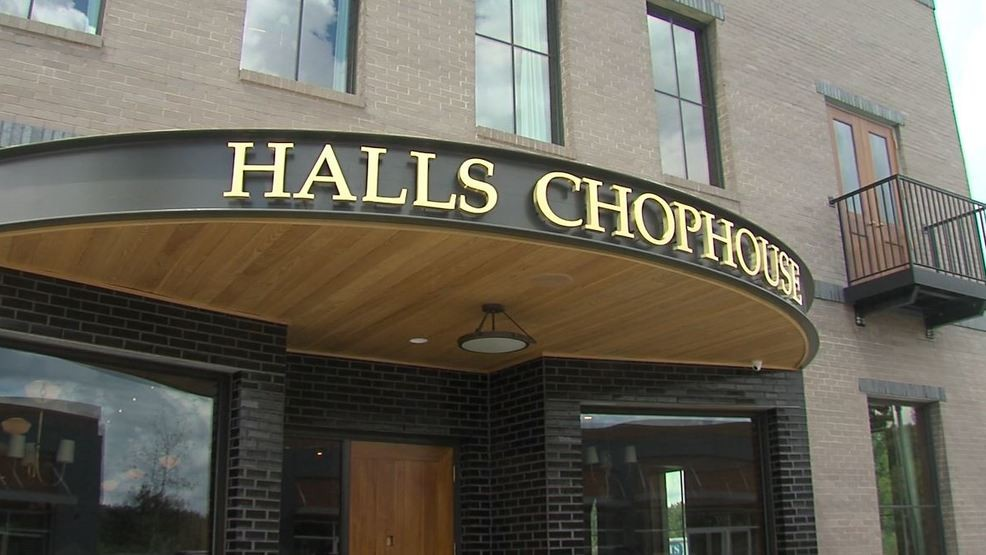 Halls Chophouse entrance.