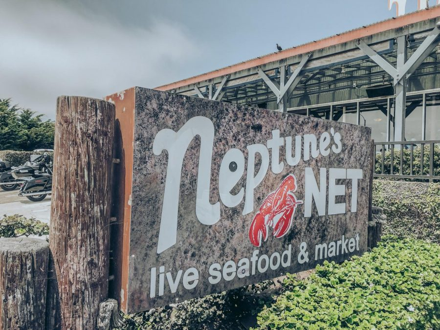 sign right outside of Neptune's Net
