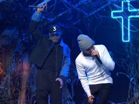 Bieber Gets Emotional During SNL Performance